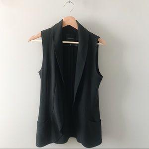 Dynamite Black Blazer Vest